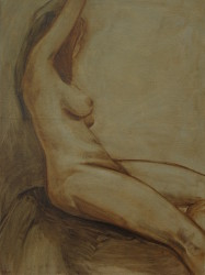 Tattoo, oil canvas, 24x18 by Bridget Bossart van Otterloo