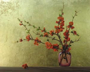 Balance (Flowering Quince in Vase)