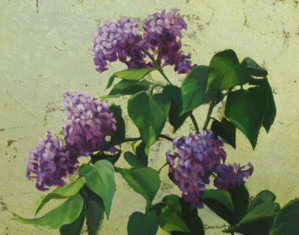 Lilacs on Silver